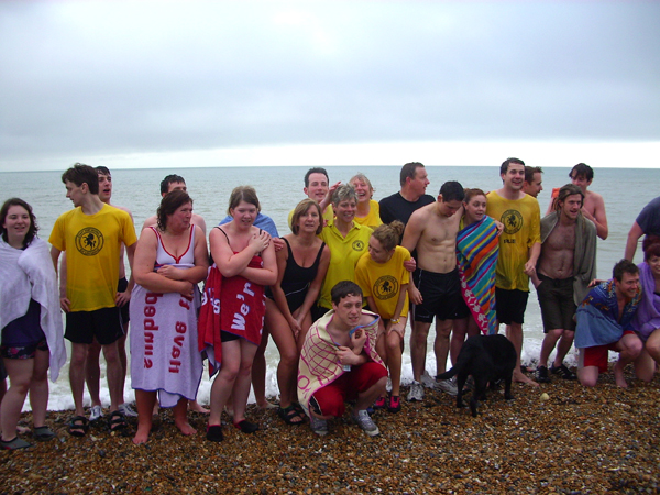 Group photo of everyone after coming out of the sea